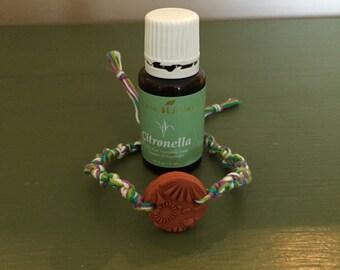 Aromatherapy oil diffuser bracelet