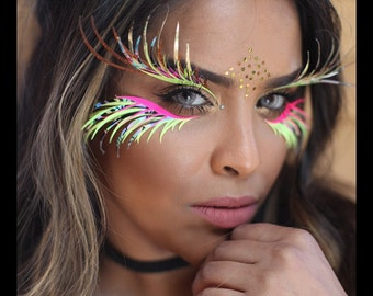 UV Festival Eyelashes, face gems, Halloween, Burning man, mermaid, embelishments