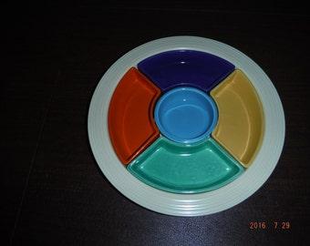 Vintage Fiesta Relish Plate