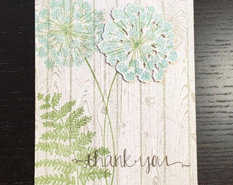 Queen Anne's Lace Thank You Set