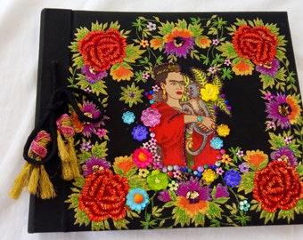SUMMER SALE! Frida Kahlo up cycled embellished traditional photograph album