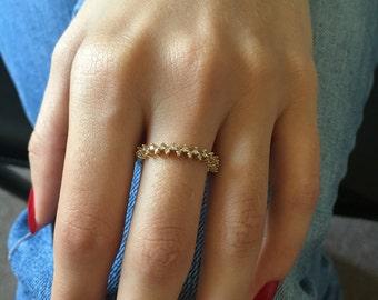 Engagement Band, Eternity Ring, Moissanite Wedding Band, Half Eternity Ring, Half Eternity Ring Diamond, Moissanite Engagement Ring