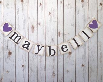 Custom name banner, baby name banner, personalized name banner, custom name sign, baby name sign, baby shower banner,baby shower decorations