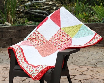 Moda Love Quilt made with Moda Liittle Ruby
