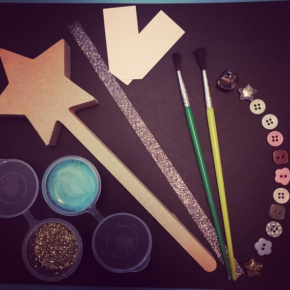Decorate your own fairy wand kit paint your own make your for Wand making kit
