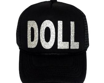 DOLL, Custom Trucker Hats, Glitter Hats