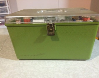 Wil hold green sewing box