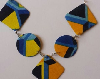 Multi Patterned Square Necklace