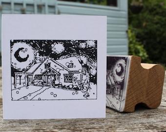 Custom Christmas House Stamp