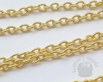 FREE P&P 24 Inch 61 cm Gold Plated Steel Cable Chain