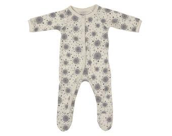 Olen Organic Cotton Footed Pajamas