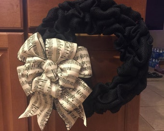 Music note wreath