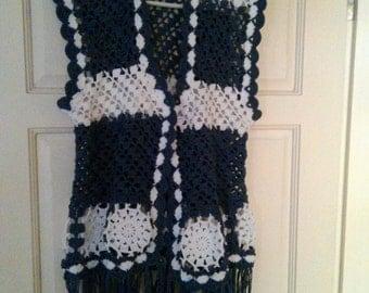 Crochet open Jacket