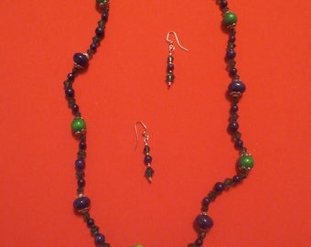 Handmade Necklace & Earring Set - Item #6-059