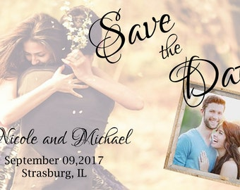 Romantic Photo Save The Date