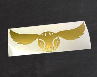 Harry Potter Golden Snitch Vinyl Decal / Sticker Small