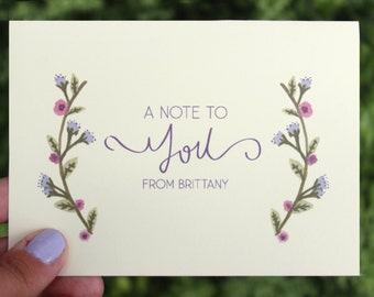 Floral Personalized Stationery Set