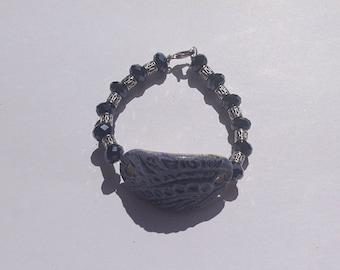 Blue Wave Medallion Bracelet