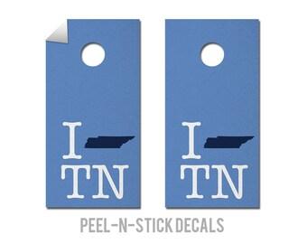 Tennessee - Titans - State Pride - Cornhole Board Decals