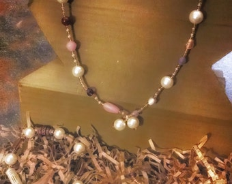 Pearl Glass Pearl Jewelry Set