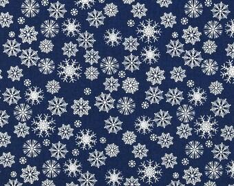 Dear Stella Tinsel Town Blue Snowflakes - Fabric by the Yard