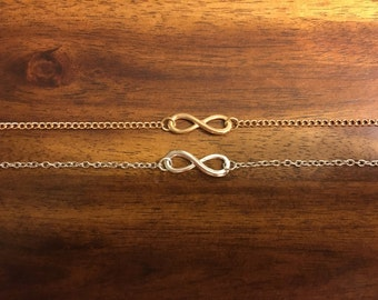 Infinity Bracelet - Infinity Charm - Infinity Knot Bracelet - Infinity Jewelry - Friendship Bracelet - Forever Bracelet - Gold Infinity