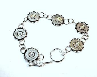 Bullet Jewelry- 45 Caliber Nickel Bullet Bracelet