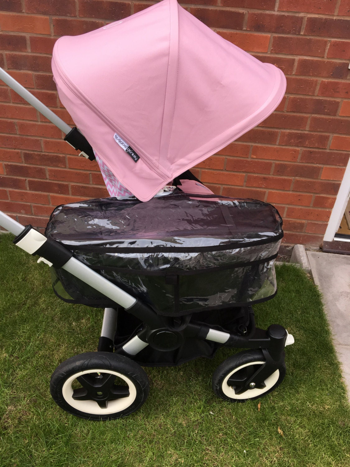Bugaboo Donkey Side Basket Raincover In Clear Or Glitter