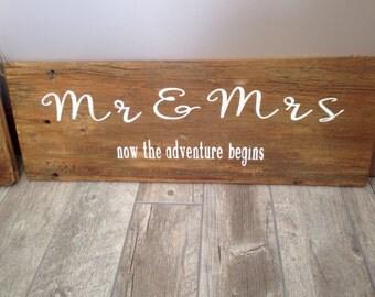 Barn sign for wedding or wedding gift  31x11    100 year old barn wood