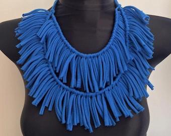 Stunning tribal boho tassel style necklace choker