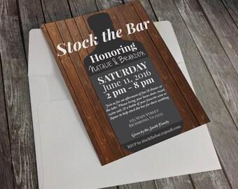 Stock the Bar Invitations- DIY PRINTABLE Customizable Digital Prints