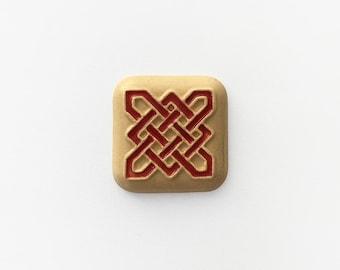 Ceramic Celtic Square Cabochon