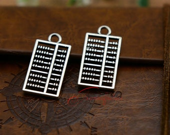 20PCS--26x13mm , Abacus Charms, Antique silver Abacus charm pendant, DIY supplies,Jewelry Making