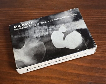 Vintage Milpath (meprobamate) Wallace Pharmaceuticals Deck of Playing Cards X-ray Medical Promotional Advertising Anxiety Ulcer Pharma