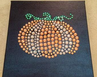 Pumpkin Sparkle Art Canvas