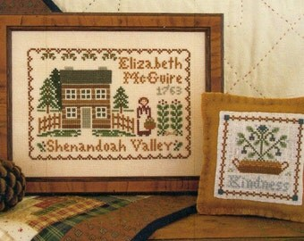 Elizabeth McGuire 1763 by Little House Needleworks Counted Cross Stitch Pattern/Chart