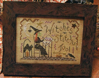 Witches Stitch Too!! by Homespun Elegance Counted Cross Stitch Pattern/Chart