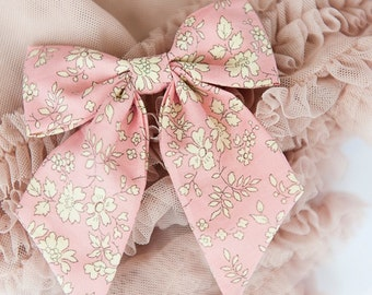 Liberty of London Bow - Pink Capel Hair Accessory