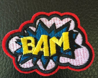 Iron on comic BAM! patch