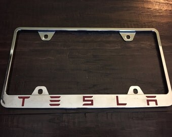 Decal Letters for TESLA License Plate