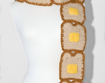 Toast and Butter Crochet Scarf