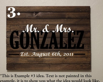 Mr. & Mrs. Last Name Wood Sign