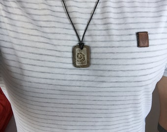Fossil necklace made of soapstone