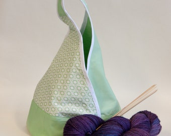 Origami Project bag size Small - knitting crochet project bag purse
