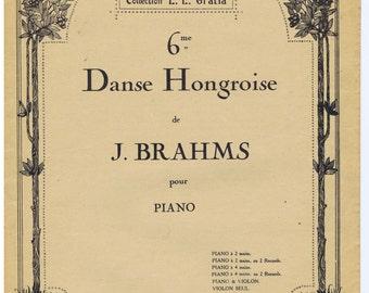 Danse Hongroise  # 6  J. BRAHMS pour piano