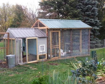 Custom Coops: Turkey and Chicken Pictured