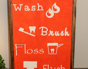 Wash Flush Floss Flush