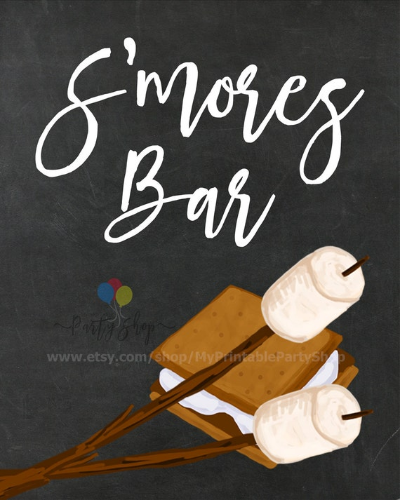 S'mores Bar Chalkboard Sign