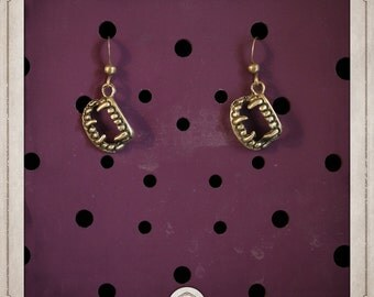 Bronze teeth earrings DRACULA vampire BOB024