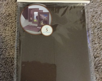 Martha Stewart photo accordion albums, black set of 2, holds 5, 4x6 photos
